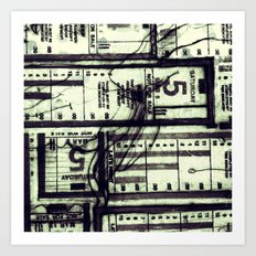 Muni Breaks Mixed Media by Faern Art Print