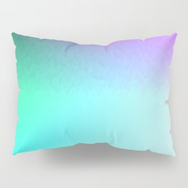 Rainbow ombre flames Pillow Sham