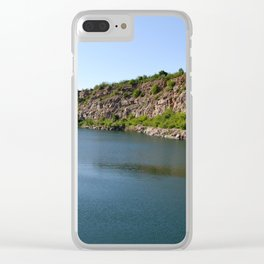 Flooded Quarry Clear iPhone Case