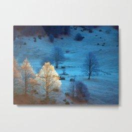 Warm Trees Metal Print