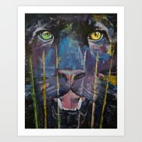 panther Art Prints featuring Panther by Michael Creese