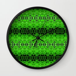 Retro India Lounge Pattern (apple green) Wall Clock