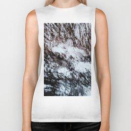 black and white winter Biker Tank