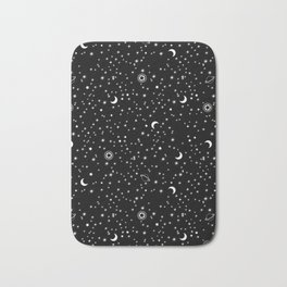 Black Space Theme Bath Mat