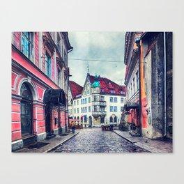 Tallinn art 11 #tallinn #city Canvas Print