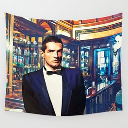Falco at the Cafe Wall Tapestry