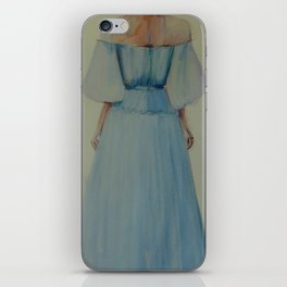 Blue Chiffon Dress iPhone Skin