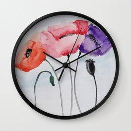 Poppies no 3 Wall Clock