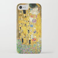 gustav klimt iPhone & iPod Cases featuring Gustav Klimt The Kiss by Art Gallery