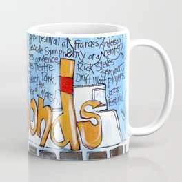 EDMONDS, WASHINGTON the town and the adventures by Seattle Artist Mary Klump Coffee Mug