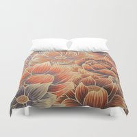 lotus Duvet Covers featuring Lotus by Jess Moore