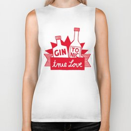 Gin Tonic True Love Biker Tank