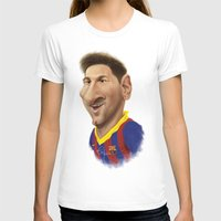 messi T-shirts featuring Messi - Barcelona by Sant Toscanni