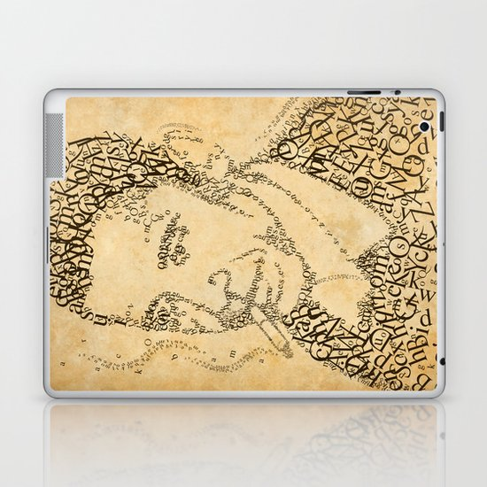 barac obama in the font of times Laptop & iPad Skin