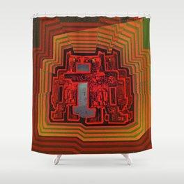 Three's a Crowd / Robotics Shower Curtain