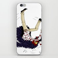 one piece iPhone & iPod Skins featuring Stumbling down - One Piece by Tarn