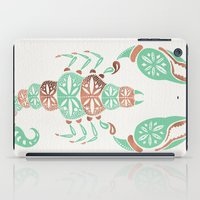rose gold iPad Cases featuring Scorpion – Mint & Rose Gold by Cat Coquillette