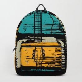 Vintage Pluck Strum Guitar Instrument Backpack