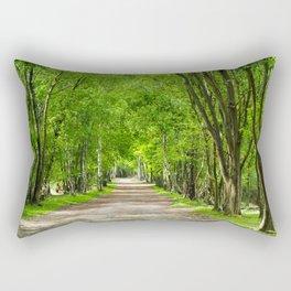 Tree-lined Lane Rectangular Pillow