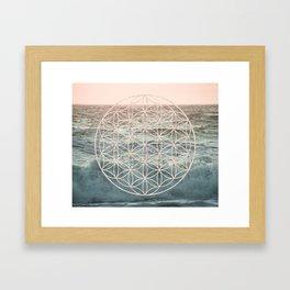 Mandala Flower of Life Sea Framed Art Print
