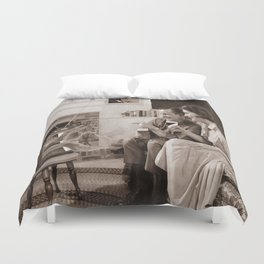 Carla is staring at you Duvet Cover