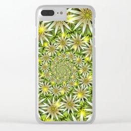 Flower Spirals Clear iPhone Case