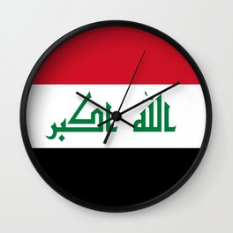 Iraq flag Wall Clock