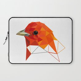 Orange Bird Geometric art Laptop Sleeve