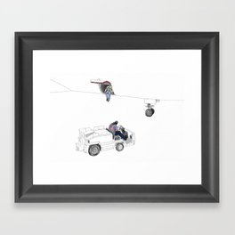 flight 1726 Framed Art Print