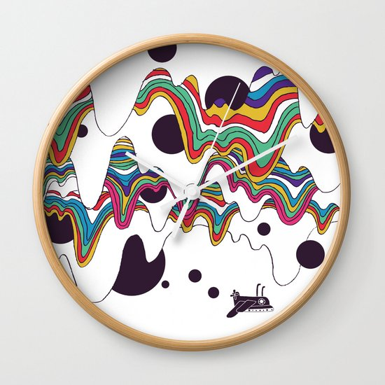 Psychedelic Planet Wall Clock