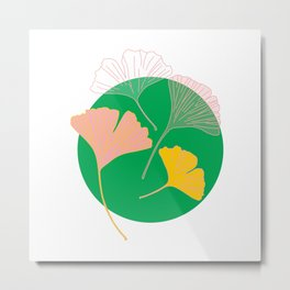 Ginkgo - the leaf of life Metal Print