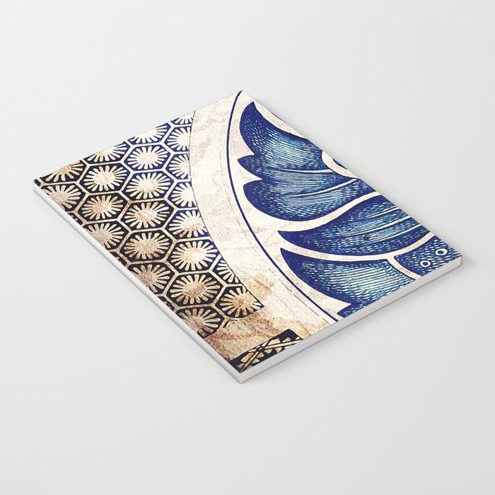Blue Oriental Vintage Tile 05 Notebook