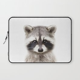 Baby Raccoon, Baby Animals Art Print By Synplus Laptop Sleeve