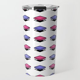 Float Pieces Purple and Pink Travel Mug