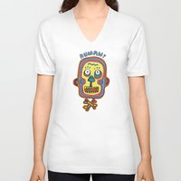 human V-neck T-shirts featuring Human  by PINT GRAPHICS