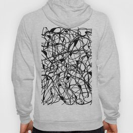 Black and White tangle Hoody