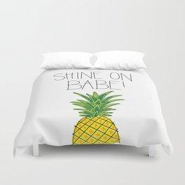 Pineapple Shine On Duvet Cover