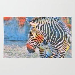 Watercolors- Zebra Rug
