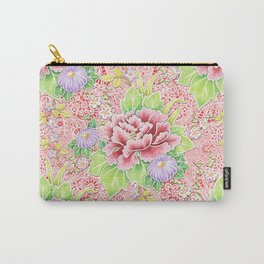 Pink Paisley Kimono Bouquet Carry-All Pouch