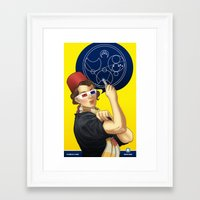 feminism Framed Art Prints featuring Whovian feminism by ElinJ