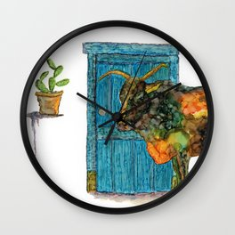 Cow 2 - alcohol ink Wall Clock
