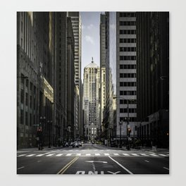 The Financial District of Chicago Canvas Print