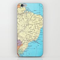 brazil iPhone & iPod Skins featuring Brazil by inourgardentoo