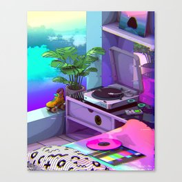Vaporwave Aesthetic Canvas Print
