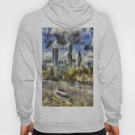 The River Thames And City Art Hoody