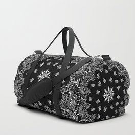 black and white bandana pattern Duffle Bag