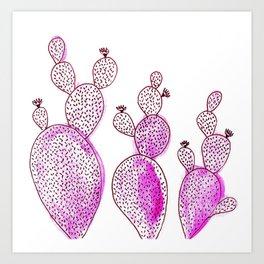 Cactus 42 pink Art Print