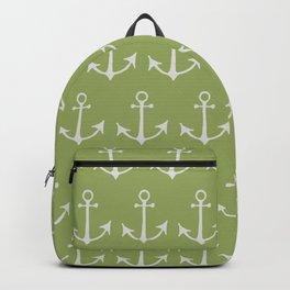 Nautical Anchors (Boat Anchors) - Green Gray Backpack