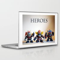 heroes Laptop & iPad Skins featuring heroes by caporilli