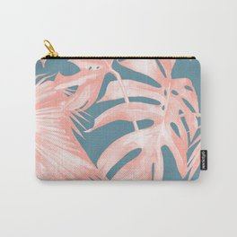 Island Love Millennial Pink on Teal Blue Carry-All Pouch